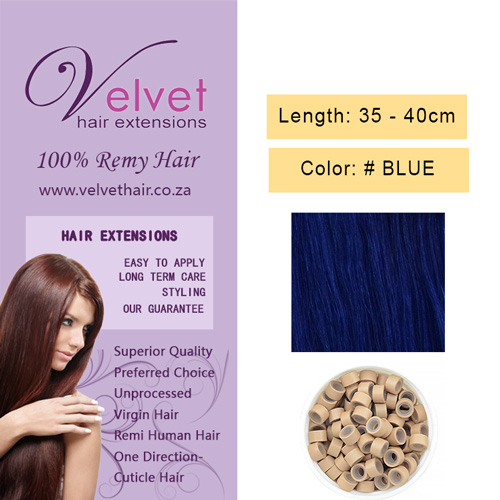 Velvet Hair Extension Ring - Blue