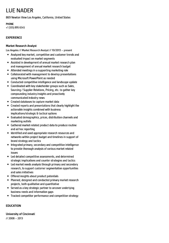 market research analyst resume sample velvet jobs
