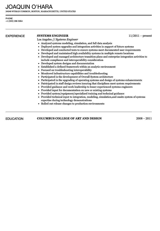 systems engineer resume sample velvet jobs system engineer resume sample