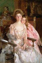 'Mrs. Fiske Warren (Gretchen Osgood) and Her Daughter Rachel' by John Singer Sargent