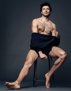 sexy man barefoot