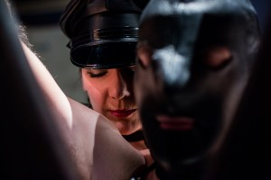 mistress behind slave