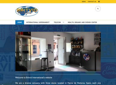 Diseño web Mallorca - Britvid International