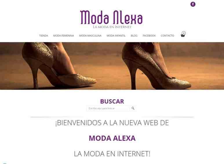 Diseño y desarrollo de webs tienda y tiendas online en Mallorca - Moda Alexa