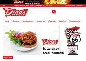 Diseño y desarrollo de webs tienda y tiendas online en Mallorca - Restaurantes Diner