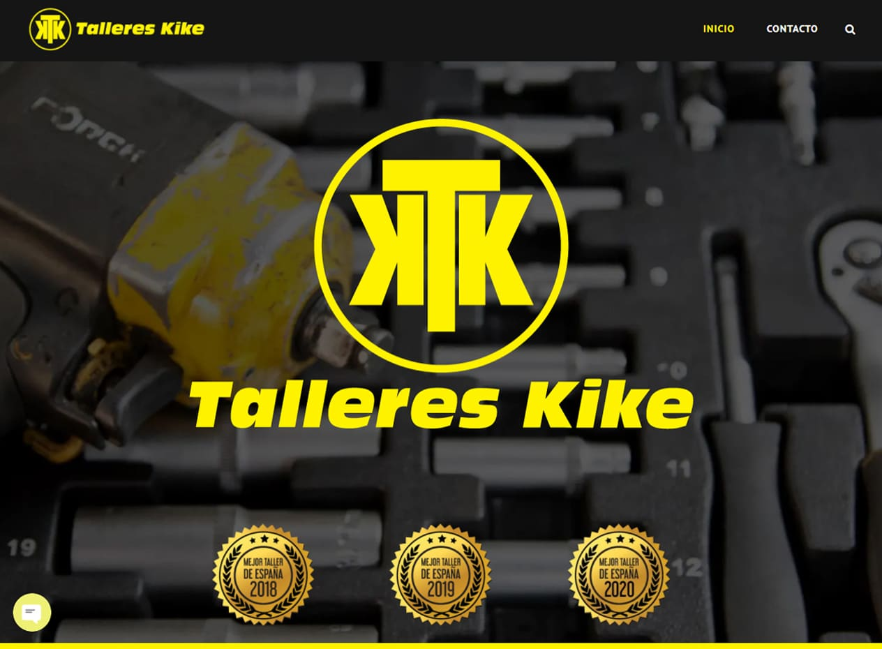 Diseño web para talleres en Mallorca - Talleres Kike