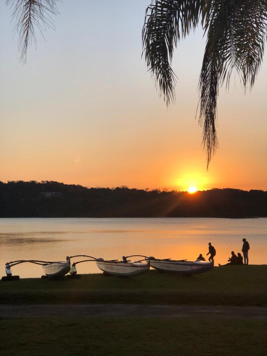 pôr do sol no parque passaúna