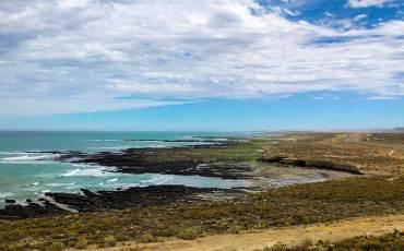 Rio Gallegos no litoral da Argentina