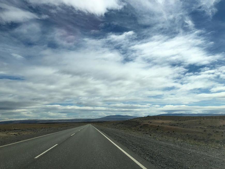 estrada El Calafate a El Chaltén