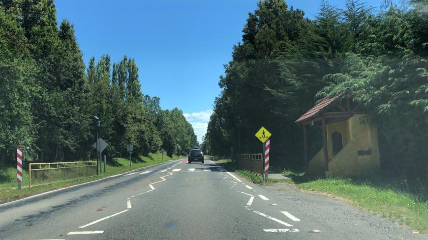 sinalização estrada do Chile