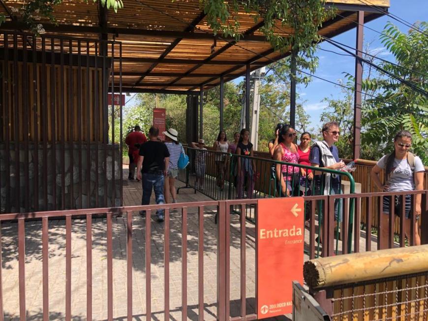 Parada para o Zoológico no Cerro San Cristóbal