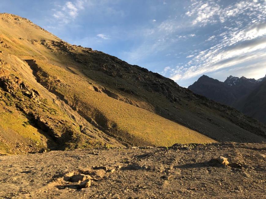 Montanhas nos Andes