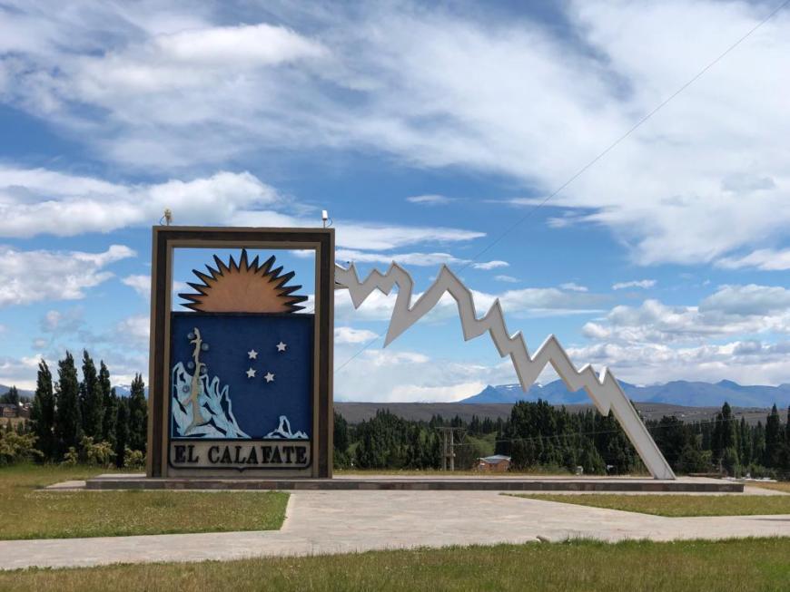 Placa da cidade El Calafate