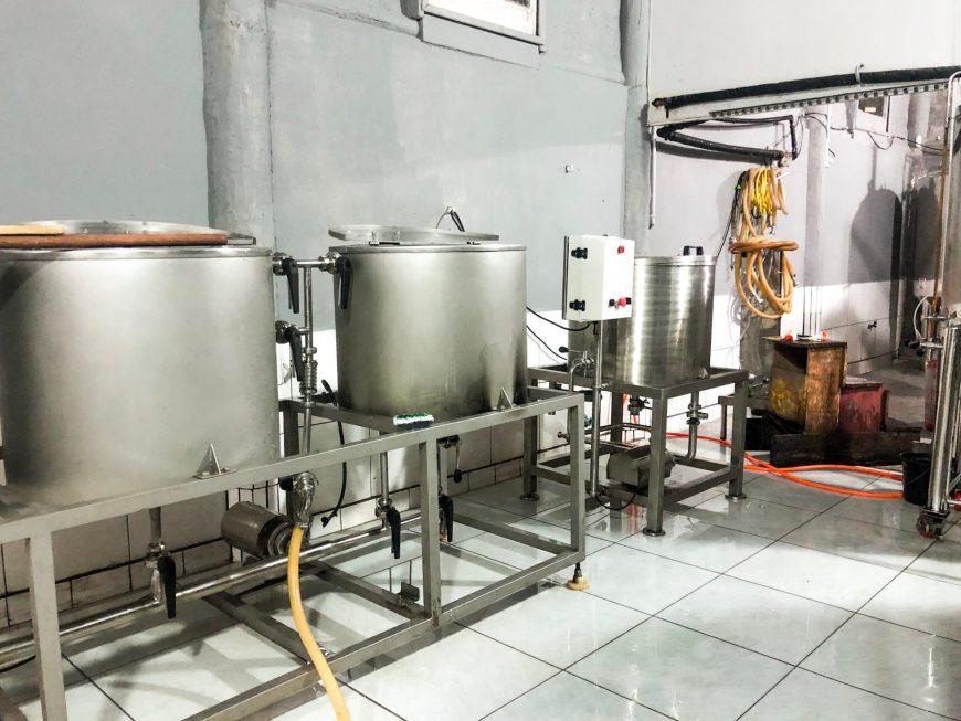 interior da fábrica de cerveja Urutau