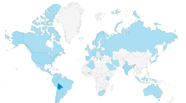 Mapa de accesos a vivirENbolivia.net | MÚSICA (Mayo 2015)