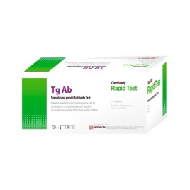 Prueba rápida de toxoplasmosis canino/felino Genbody TG Ab, caja de 10 unidades