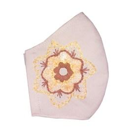 Barbijo fashion bordado a mano con diseño Mandala