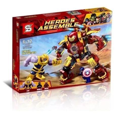 NO. SY1108 – Ironman Vs Thanos Incluye Armadura MK46, Ironman, Capitán América y Thanos +7 Años +371 Piezas 170 Bs con envío a domicilio sin costo adicional