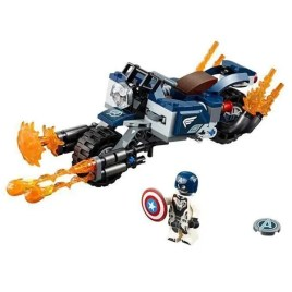 Juego de construcción NO. 344 – Capitán América Motociclista