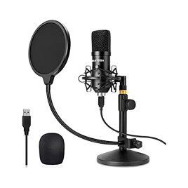 Micrófono de condensador USB Mayoga con pedestal