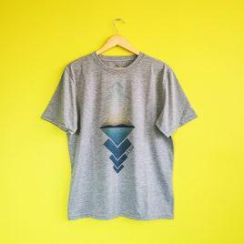 Polera de varón Bolivianita Shop, modelo Salar de Uyuni color gris