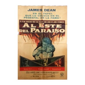 Afiche histórico original AL ESTE DEL PARAÍSO
