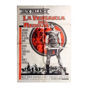 Afiche histórico original LA VENGANZA DEL REBELDE