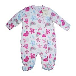 Mameluco para bebé de color rosa con figuras