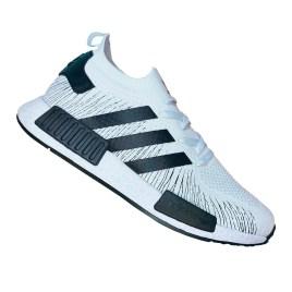 Zapatilla deportiva para varón, color blanco con vetas negras