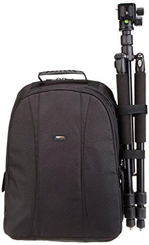 AmazonBasics DSLR and Laptop Backpack - Orange interior - VendeTodito