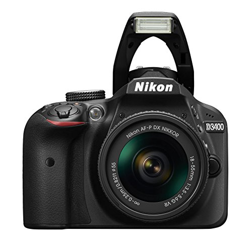 Nikon Cámara Reflex D3400 con lente AF-P DX NIKKOR 18-55mm f/3.5-5.6G VR color negro - VendeTodito
