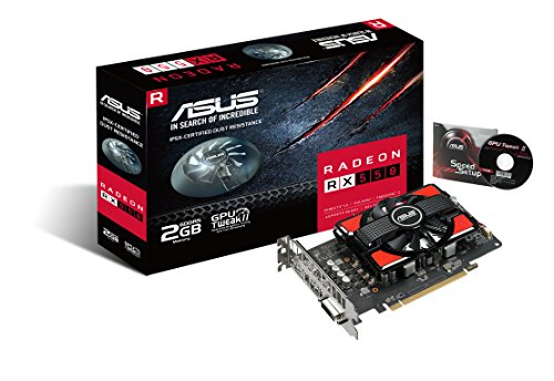 ASUS RX550-2G Graphic Card Radeon RX 550 2 GB GDDR5, DisplayPort, HDMI, DVI - VendeTodito