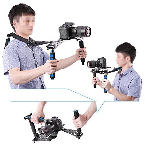 Neewer Equipo de Estabilizador de Hombro Soporte para Produccion de Película Cina DSLR Plegable para Canon Nikon Sony Fujifilm Olympus Digital SLR Cámara y Vídeocamara - VendeTodito