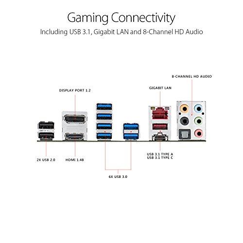 ASUS ROG Strix X370-F GAMING Motherboard with USB 3.1, ATX, AMD Ryzen, AM4, DDR4, HDMI, DisplayPort, M.2 - VendeTodito