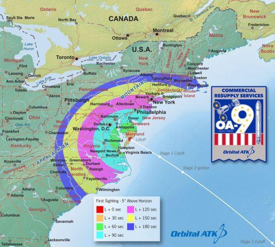 ATK Orbital lanzará un cohete Antares a la Estación Espacial Internacional mañana por la mañana