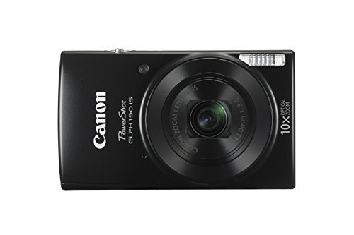 Canon PowerShot ELPH 190 IS (Black) with 10x Optical Zoom and Built-In Wi-Fi - VendeTodito
