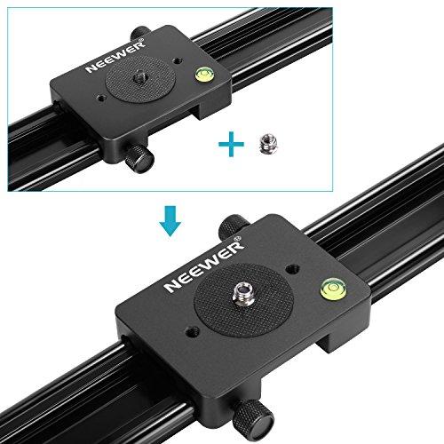 Neewer - Carril deslizante profesional de 80 cm, Riel estabilizador, para Cámara DSLR con Capacidad de Carga 5 Kilogramos, Perfecto para Fotografía y Video - VendeTodito