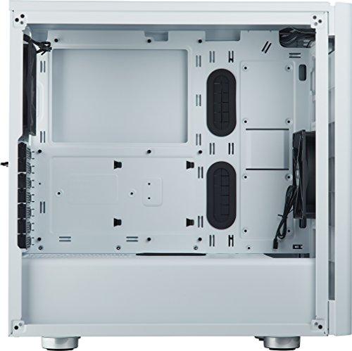 Corsair Carbide 275R Midi-Tower Blanco gabinete de computadora - Caja de Ordenador (Midi-Tower, PC, Acero, Vidrio Templado, ATX,Micro-ATX,Mini-ITX, Blanco, Juego) - VendeTodito