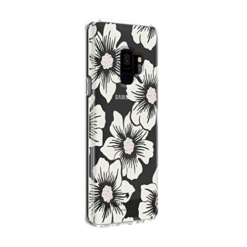 Kate Spade New York Protectora Carcasa para Samsung Galaxy S9–Multi de Flores Rosa/Transparente/Oro con Piedras, Multi Hollyhock Floral Clear/Cream with Stones - VendeTodito