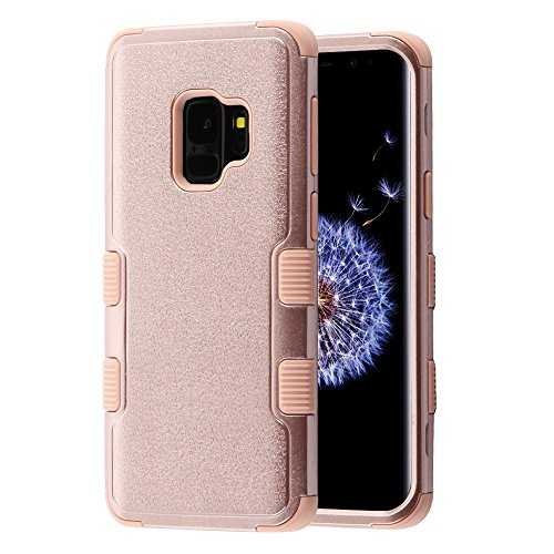 MyBat Funda Case para Samsung S9 (No Plus) Doble Protector de Uso Rudo Tuff, Color Natural Rose Gold - VendeTodito