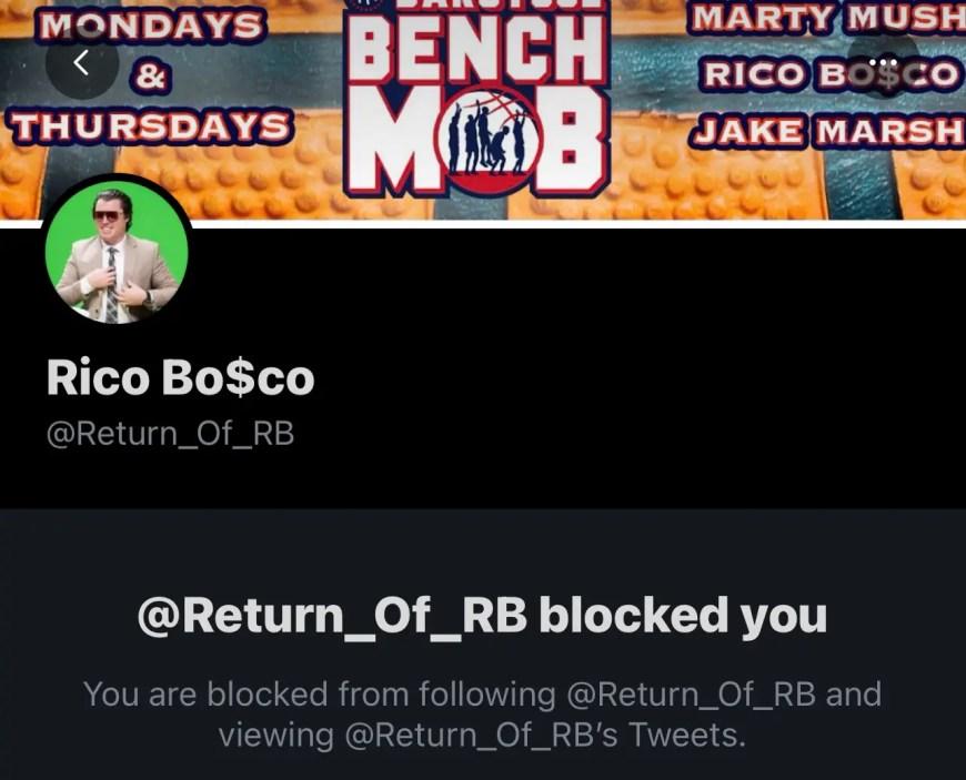 Blocked by Rico Bosco