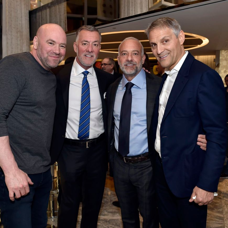 Dana White and Endeavor Holdings Group at the launch of the IPO on Thursday morning.