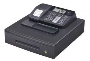 Cajón monedero en caja registradora