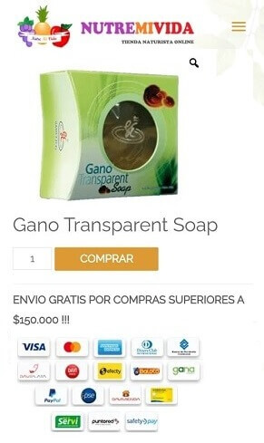 Gano transparent soap comprar en Colombia