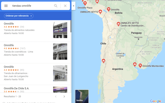 Tiendas Omnilife en Argentina, Bolivia, Chile, Uruguay y Paraguay - Cedis