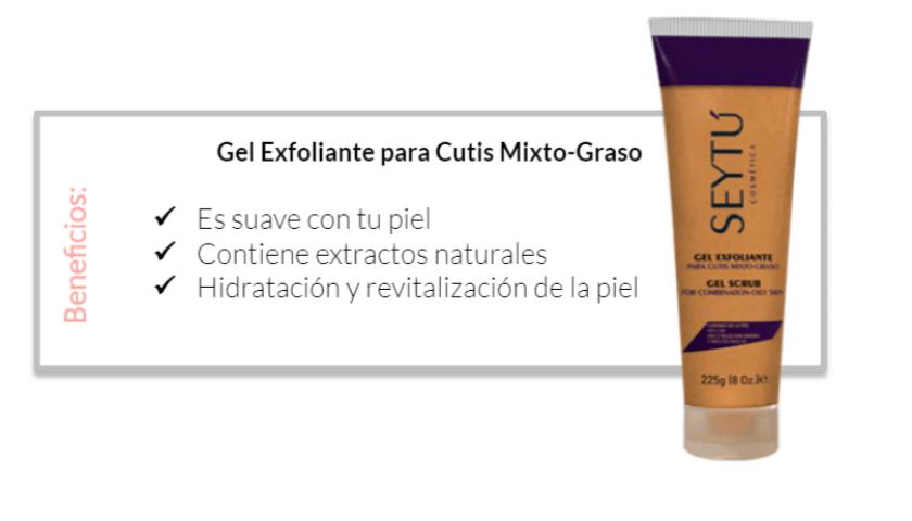 4.1 gel exfoliante graso anti acne seytu