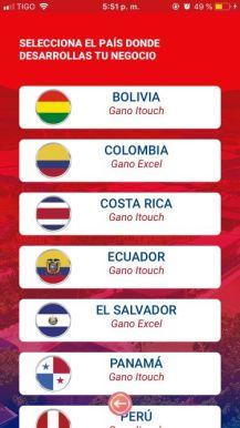Selecciona tu país Gano Excel / iTouch