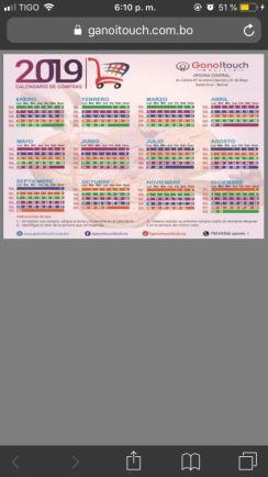 Calendario de recompra Gano Excel / iTouch