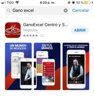 Descarga de la App Gano Excel Centro y Surámerica