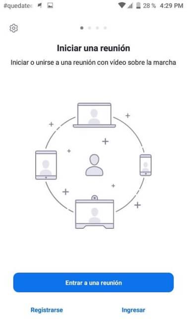 Videoconferencias Zoom App Mobile